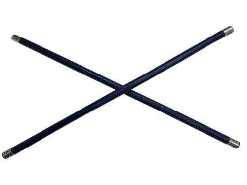 Pair BLUE Tournament Demo Rattan Escrima Kali Arnis Fighting Stick Set