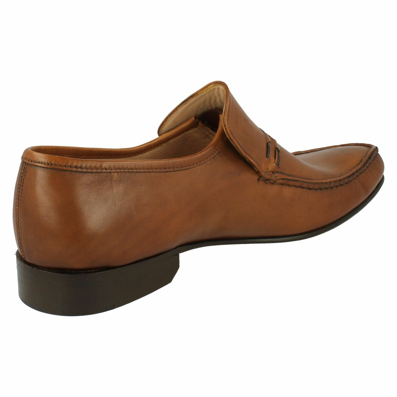 Mens Nevada brown leather Grenson slip on shoe by Grenson leather Feathermaster 33ecd7