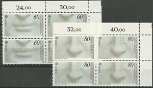 Federal-Frg-Minr-1278-1279-Mint-Block-of-Four-Corner-2-Unfolded