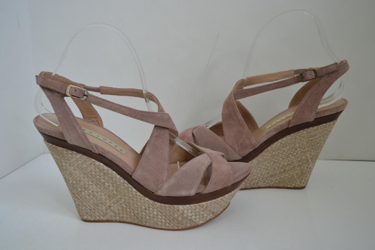 Pura Lopez Blush RET Suede Sandals
