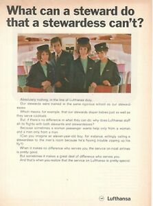 1969-Original-Advertising-039-Lufthansa-Germany-Airlines-Steward-Hostess