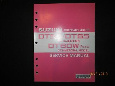 1994-1995 SUZUKI DT55/DT65 OIL INJECTION OUTBOARD MOTOR Service Manual on