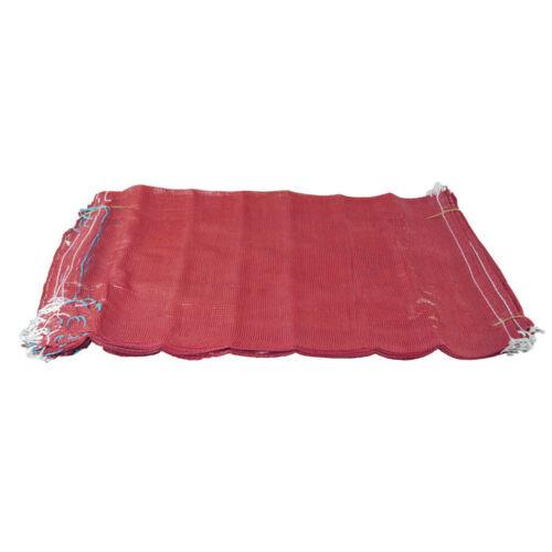 500 Bolsas De Malla sacos de red Rojo Madera de encendido registros de patatas cebollas 50cm X 80cm//30Kg