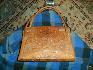 Image is loading Vintage-MITLA-Western-Embossed-Leather-Purse-Made-In- 76dcb113f9cd5