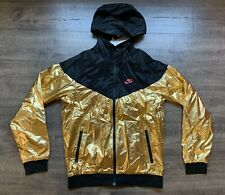 NWT NIKE SPORTSWEAR WINDRUNNER JACKET Black//Gold Men/'s Sz L 924515 707