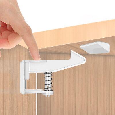 NEW 10pcs Child Kid Baby Safety Cabinet Door Fridge Drawer Cupboard Lock Latch