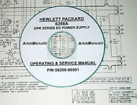 Hp 6258a Dc Power Supply, Operator & Service Manual