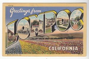 43457 1955 large letter postcard greetings from lompoc california image is loading 43457 1955 large letter postcard greetings from lompoc m4hsunfo