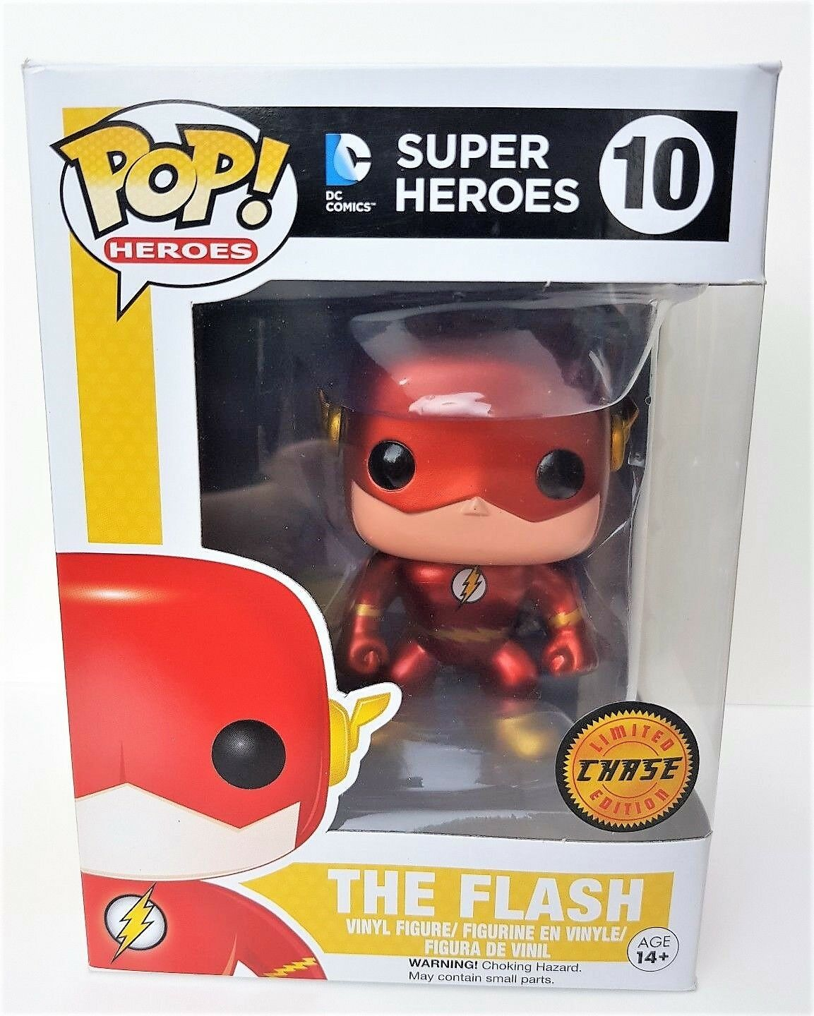 Funko pop der flash - metallic - dc comics im kasten - figur