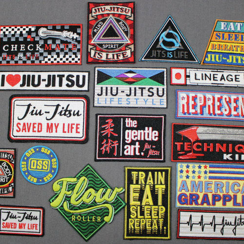 Jiu Jitsu Gi Patches YOU PICK EM 18 to choose from IRON-ON 3 BJJ PATCH LOT