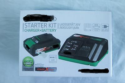 Gardol Power X-change Akku 20v -1,5 Ah + Ladegerät Kit Fein Verarbeitet