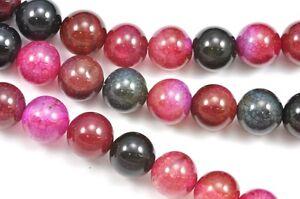 burgundfarben-Fuchsie-blaugruen-vermischt-Farbe-RUND-ACHAT-Halbedel-Edelstein