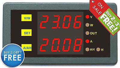Battery Tester DC LED Digital Panel Combo AMP Volt Watt Amp Hour Meter 200V750A