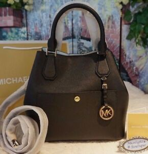 077e27f8171d NWT Michael Kors GREENWICH Large GRAB BAG Saffiano Leather In BLACK ...