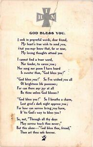 Vintage Postcard  - God Bless You - Scripture Prayer Card Posted 1909 #978