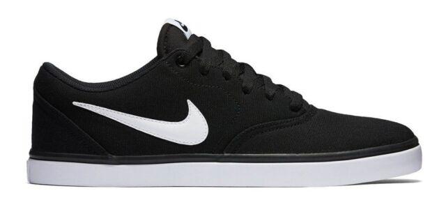 buy popular 08774 af6ef Nike SB Check Solar Canvas Sneaker Men s Skate Shoes BLACK WHITE Sz US 8,