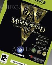 Morrowind Game of the Year Edition Bloodmoon Tribunal PC Elder Scrolls 3 III