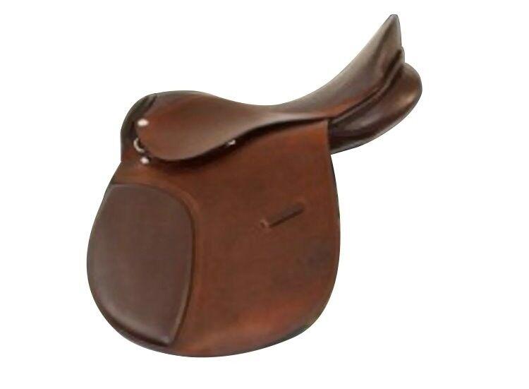 Campale Vielseitigkeitssattel Echt Leder Pferde Dressur Sattel braun Pony Shetty