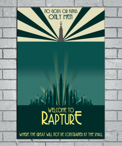 E575 Art Game Welcom To Rapture Bioshock 18 24x36inch Poster New Gift