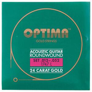 Appris Optima Gold Acoustique Roundwound Cordes Guitare | 012 - 052 | 1747 L 1747 L-afficher Le Titre D'origine Petit Profit
