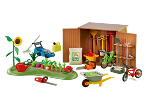 PLAYMOBIL® 6558 Tool Shed with Garden - ADD ON SET - S&H FREE WORLDWIDE