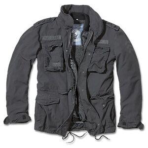 Brandit-M65-Giant-Feldjacke-Schwarz-Parka-US-Style-Jacke-mit-Futter