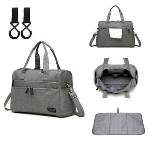 Unisex-Large-Multi-function-Messenger-Tote-Baby-Nappy-Changing-Bag-Changing-Pad