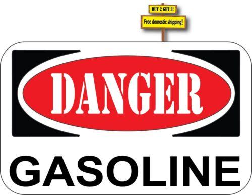Danger Gasoline OSHA//ANSI No Smoking Decal Sticker #409