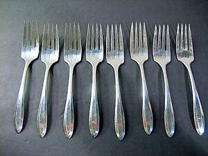 Oneida Community Silverplate Patrician Salad Forks Set of 4