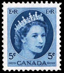 Canada  # 341  QUEEN ELIZABETH II  - WILDING PORTRAIT   VF-NH  1954 Pristine Gum