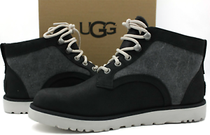 3e5fa961e8f Details about UGG Bethany Women's Boot Black Canvas Leather Winter Boot  1016668 Size 6.5 - NEW
