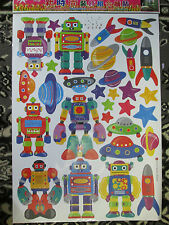 """ROBOTS"" DECORATIVE BEDROOM/NURSERY WALL STICKERS"