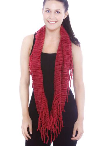 Women /& Ladies Winter Warm Long Scarf Knit Infinity Scarf Crochet Circle Scarves