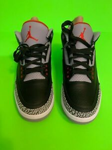 buy online 033ef a4196 Details about MENS 10.5 RETRO 3 JORDANS BLACK CEMENT SNEAKERS NIKE AIR  BASKETBALL SHOES