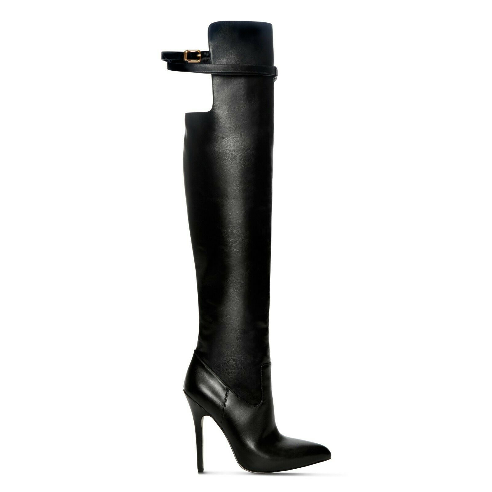 Altuzarra Tiras Negro Tacón Stiletto botas Mujer US 7 Eu 37