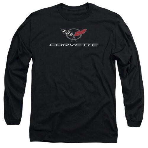 Chevrolet CORVETTE MODERN EMBLEM Licensed Adult Long Sleeve T-Shirt S-3XL
