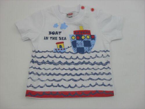 Babyset Sommer Set T-Shirt Latzhose Jeans Schiff kurz 2-tlg Jungen 56 62 68 74