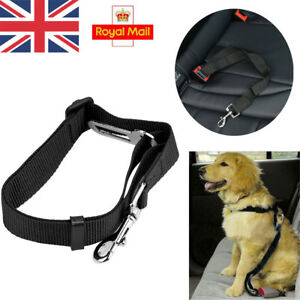 BLACK-DOG-PET-CAR-SAFETY-SEAT-BELT-HARNESS-RESTRAINT-ADJUSTABLE-LEAD-TRAVEL-CLIP