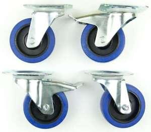 1-Set-SL-100-mm-Rollen-BLUE-WHEELS-Transportrollen-Lenkrollen-2x-Feststellbremse
