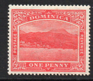 Dominica-1-Penny-Carmine-Red-Stamp-c1908-20-Mounted-Mint-251