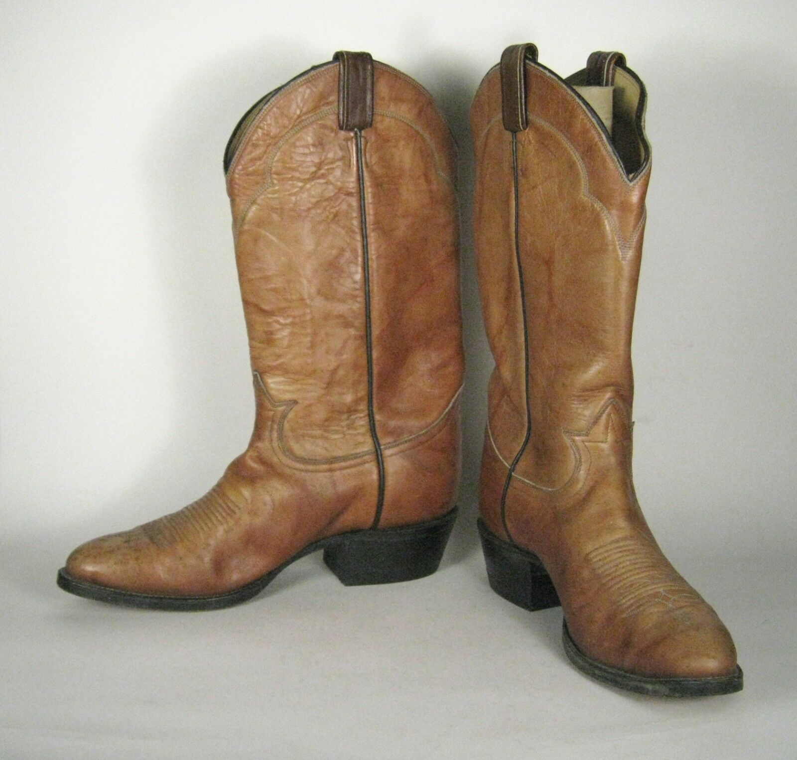 Tony Lama botas B vaquero occidental Marrón Hombres Estrecho USA 5084