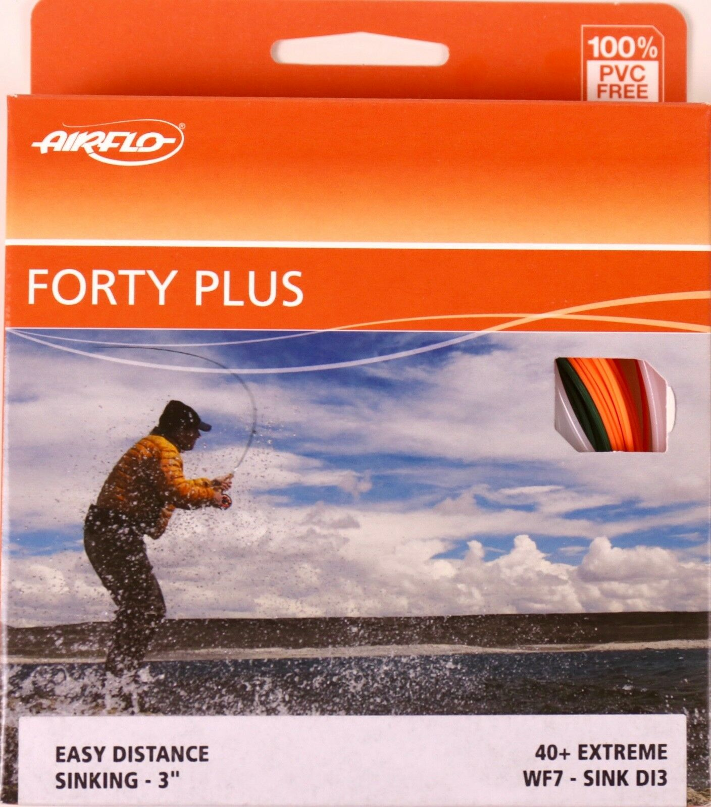 Airflo Forty Plus Extreme WF7 Sink DI3 Fly Line gratuito FAST SHIPPING 40