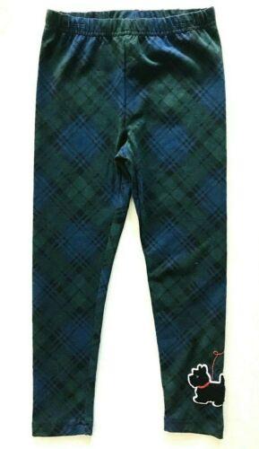 Ralph Lauren Girls Holiday I Blue//Green Elastic Waist Dog Applique Leggings