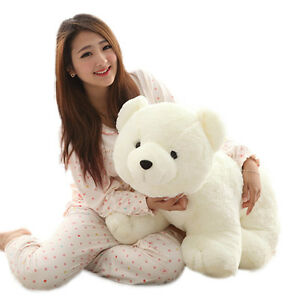 60cm Big Plush Polar Bear Doll Giant Large Teddy Stuffed Soft Plush