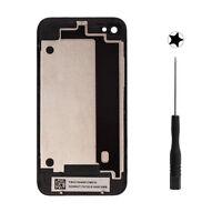 Rückseite Akkudeckel Backcover Glas Werkzeug für Original Apple iPhone 4 Schwarz