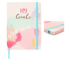 a5 my goals hardback notebook gift book travel journal diary gold