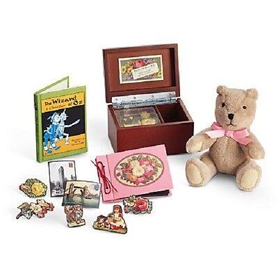 American Girl Doll Beforever Samantha's BEDTIME ACCESSORIES music box TEDDY BEAR
