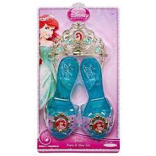 Disney Princess Ariel SHOES & TIARA Crown Set Dress Up Fashion Costume Slippers