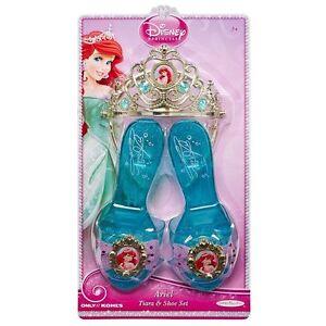 Disney-Princess-Ariel-SHOES-amp-TIARA-Crown-Set-Dress-Up-Fashion-Costume-Slippers