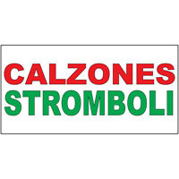 Calzones Stromboli Red Green Food Bar Restaurant Food Truck Decal Sticker Retail
